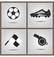 abstract isolated soccer icons set vector image vector image