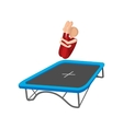 Acrobatics on the trampoline cartoon icon vector image