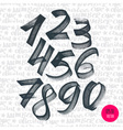 Alphabet numbers digital style hand-drawn doodle vector image vector image