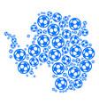 antarctica map collage of football balls vector image vector image