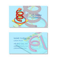 aquapark company business card template vector image vector image