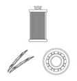 auto and part icon vector image vector image