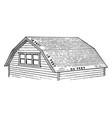 barn roof steep vintage engraving vector image vector image