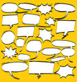 big set of cartoon comic speech bubbles vector image
