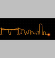 bilbao light streak skyline vector image vector image