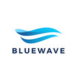 blue wave water ocean logo icon vector image