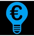 Bulb icon from BiColor Euro Banking Set vector image