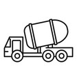 cement truck icon outline style vector image