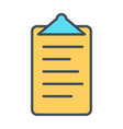 Checklist line icon clipboard in outline style