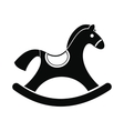 Children rocking horse icon vector image