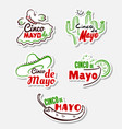 cinco de mayo stickers set vector image