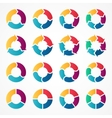 circle arrows infographic template vector image vector image