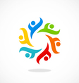 circular people diversity logo vector image vector image