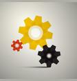 cogs gears cog icon gear symbol vector image vector image