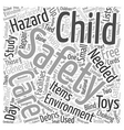 Day Care Safety Word Cloud Concept vector image vector image