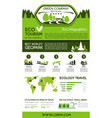 ecotourism green traveling infographics design vector image