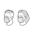 face in mask vector image vector image