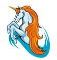 fantasy unicorn horse vector image