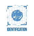 finger scan in futuristic style biometric id with vector image vector image