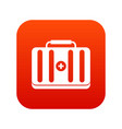 first aid kit icon digital red vector image vector image