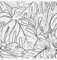 floral leaf seamless pattern leaves background vector image