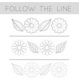 follow line - flower file vector image