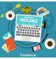 freelance concept banner vector image vector image
