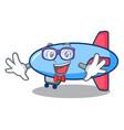 geek zeppelin character cartoon style vector image