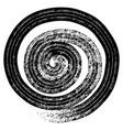 hand drawn textured spiral tattoo vector image