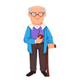 happy grandparents day cheerful grandfather vector image vector image
