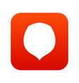 hazelnut icon digital red vector image vector image