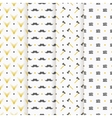 hipster seamless pattern collection vector image