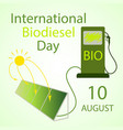 international biodiesel day vector image vector image