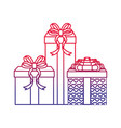 isolated gifts design vector image