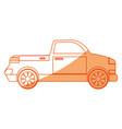 isolated van car vector image vector image