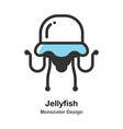 jellyfish monocolor vector image