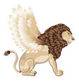 lion with wings cartoon vector image