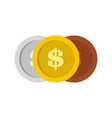 making coin icon flat style vector image vector image