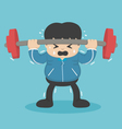man to lift a weight vector image