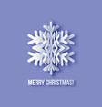 merry christmas greetings card vector image vector image