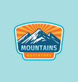 mountain adventure badge design extreme traveling vector image vector image