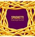 oily spaghetti frame vector image