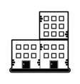 old brick building icon image vector image