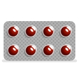 Package drugs tablets pills medical icon isolated vector image