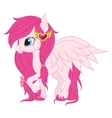 Pink pegasus vector image vector image