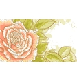 Pink rose on white background vector image vector image