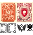 Premium Quality Cards set Baroque ornaments and vector image vector image