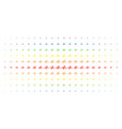 pulse spectral halftone pattern vector image