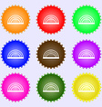 rainbow icon sign Big set of colorful diverse vector image vector image