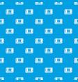retro microchip pattern seamless blue vector image
